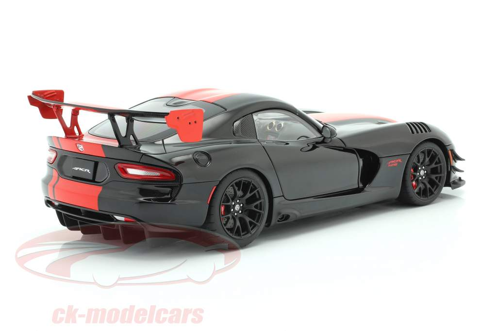 Dodge Viper ACR Byggeår 2017 sort / rød 1:18 AUTOart