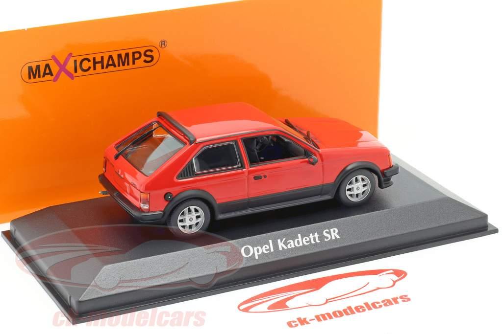 Opel Kadett D SR Año de construcción 1982 rojo 1:43 Minichamps