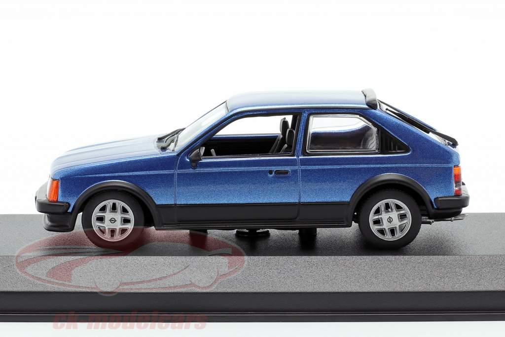 Opel Kadett D SR Ano de construção 1982 azul metálico 1:43 Minichamps