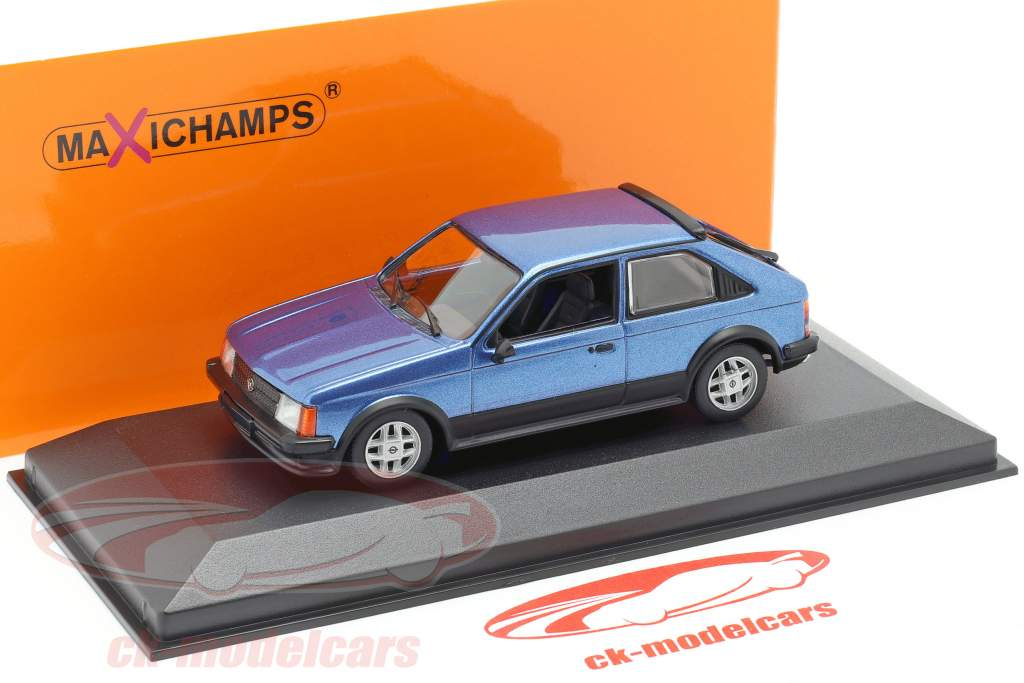 Opel Kadett D SR Año de construcción 1982 azul metálico 1:43 Minichamps