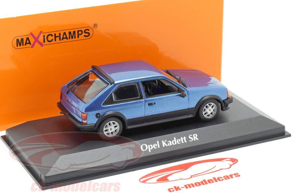 Opel Kadett D SR Bouwjaar 1982 blauw metaalachtig 1:43 Minichamps