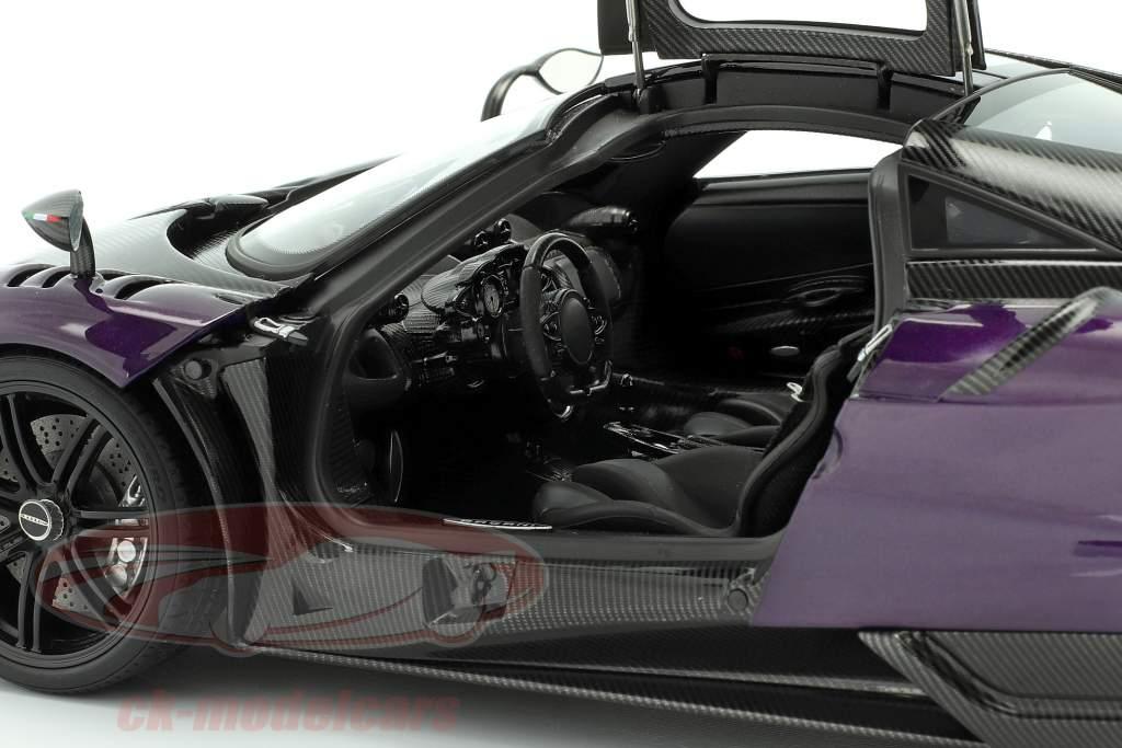 Pagani Huayra BC Baujahr 2016 violett / carbon 1:18 AUTOart