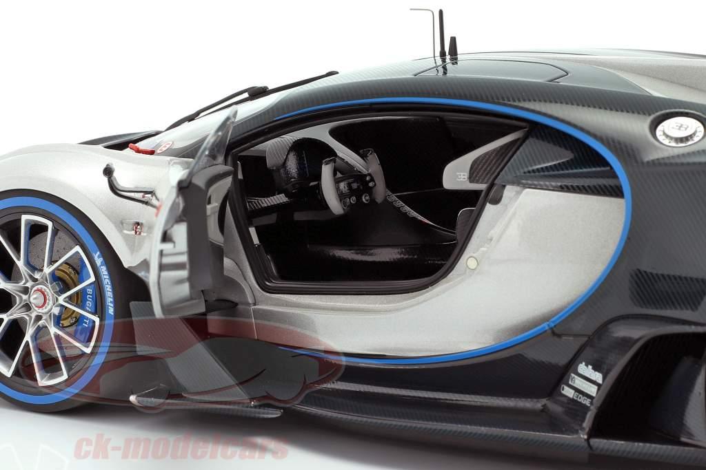 Bugatti Vision GT Año de construcción 2015 plata / carbono azul 1:18 AUTOart