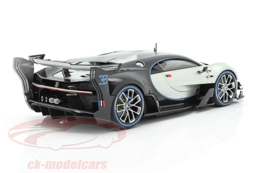Bugatti Vision GT Année de construction 2015 argent / carbone bleu 1:18 AUTOart