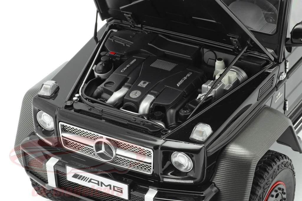 Mercedes-Benz G63 AMG 6x6 Bouwjaar 2013 glans zwart 1:18 AUTOart