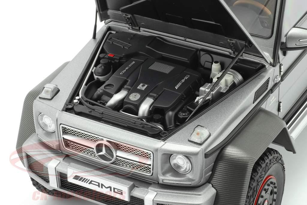 Mercedes-Benz G63 AMG 6x6 Baujahr 2013 designo platinum magno 1:18 AUTOart