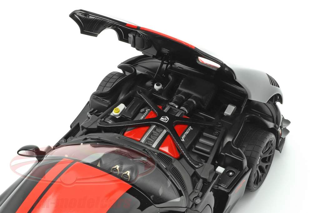 Dodge Viper ACR Bouwjaar 2017 zwart / rood 1:18 AUTOart