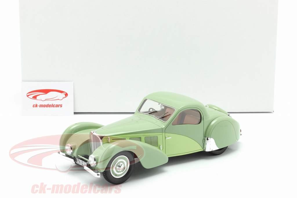 Bugatti T57SC Atalante Byggeår 1937 grøn 1:18 Matrix