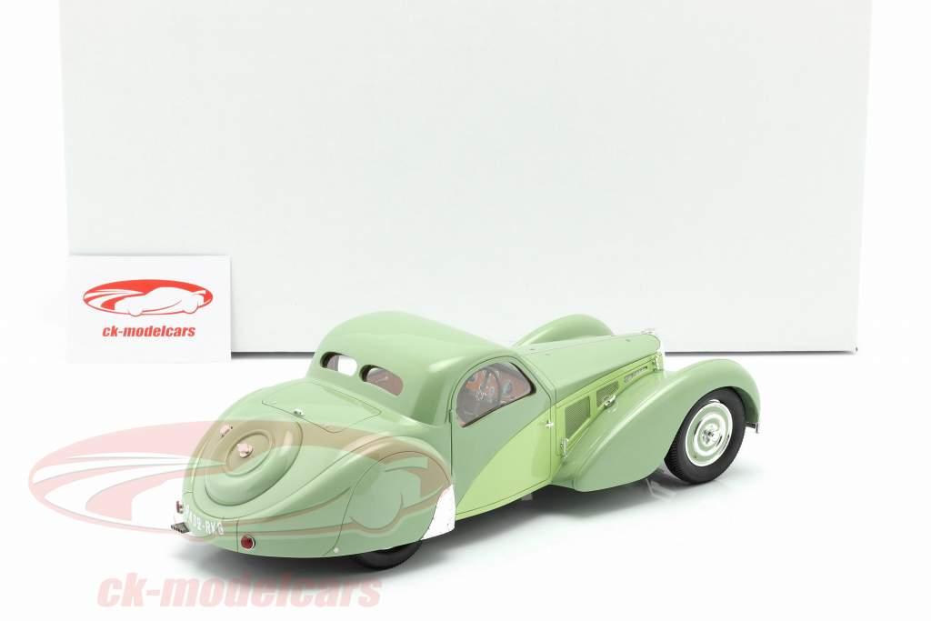 Bugatti T57SC Atalante Bouwjaar 1937 groen 1:18 Matrix