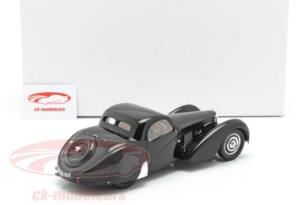 Bugatti T57SC Atalante Ano de construção 1937 preto 1:18 Matrix