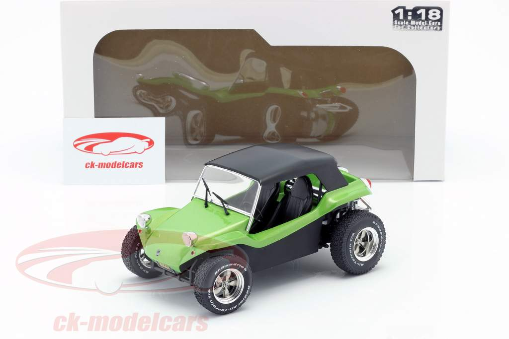 Meyers Manx Buggy with Softtop year 1968 green metallic / black 1:18 Solido