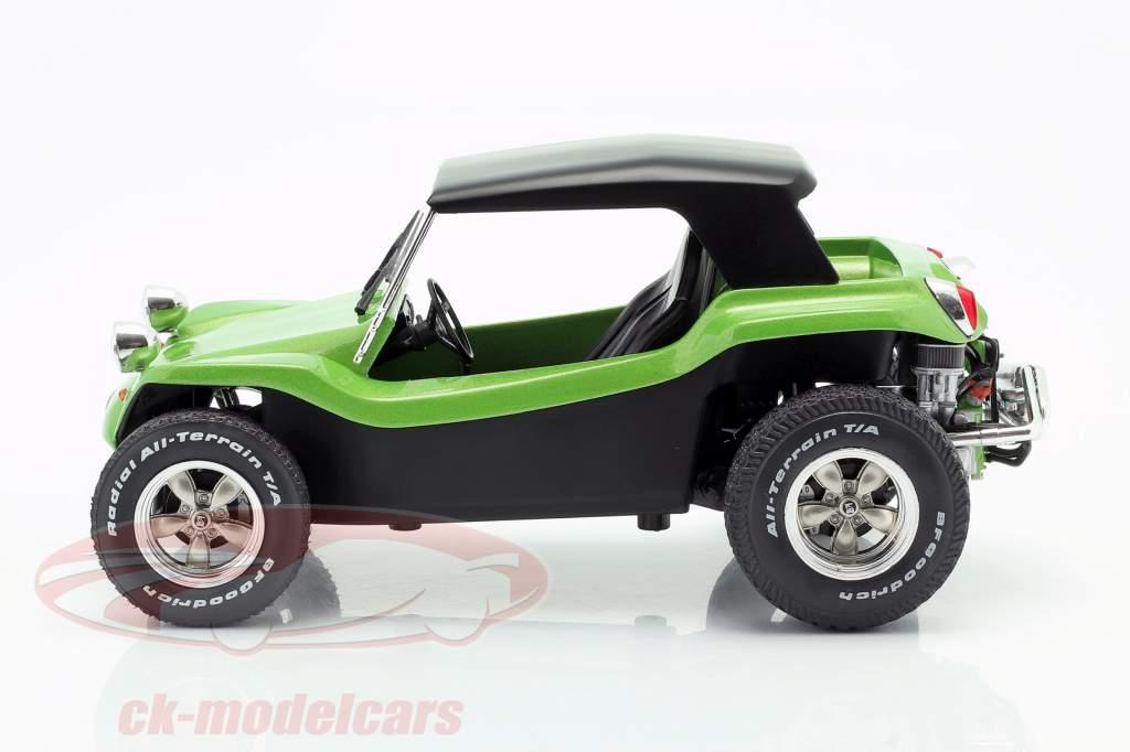 Meyers Manx Buggy mit Softtop Baujahr 1968 grün metallic / schwarz 1:18 Solido