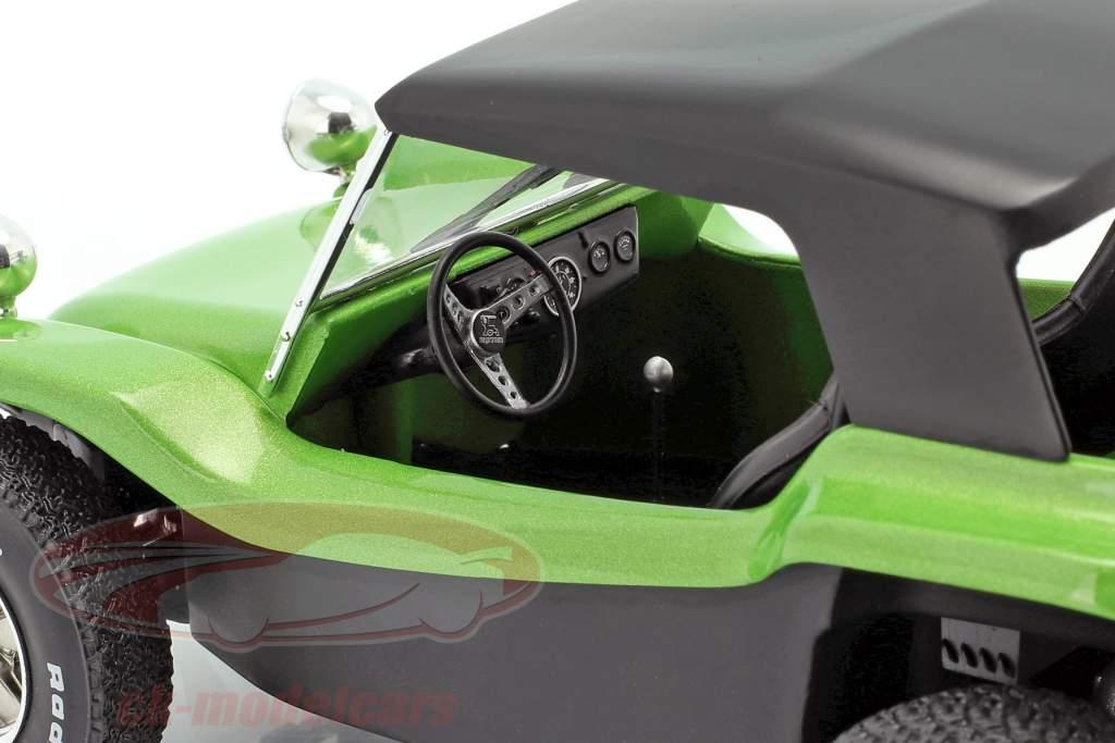 Meyers Manx Buggy med Softtop Byggeår 1968 grøn metallisk / sort 1:18 Solido