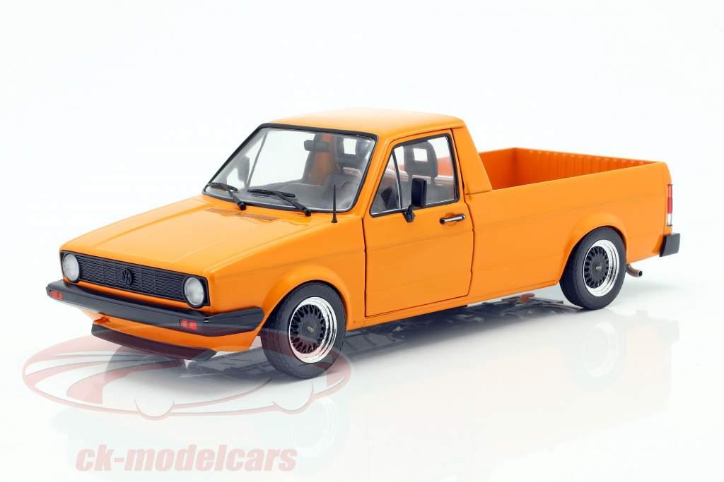 Volkswagen VW Caddy MK1 Byggeår 1982 appelsin 1:18 Solido