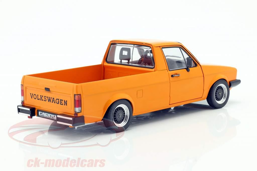 Volkswagen VW Caddy MK1 Año de construcción 1982 naranja 1:18 Solido