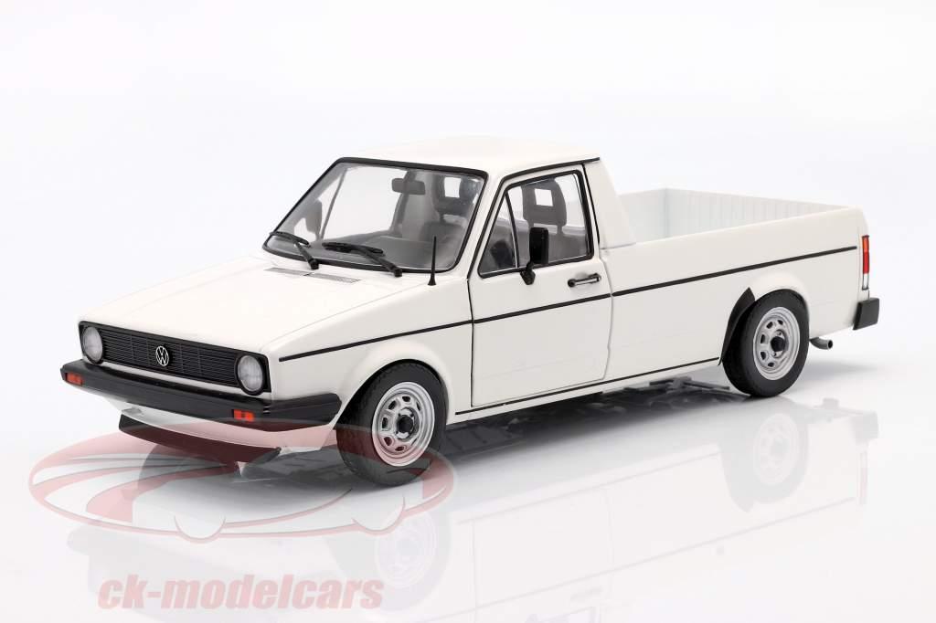 Volkswagen VW Caddy MK1 Año de construcción 1982 blanco 1:18 Solido