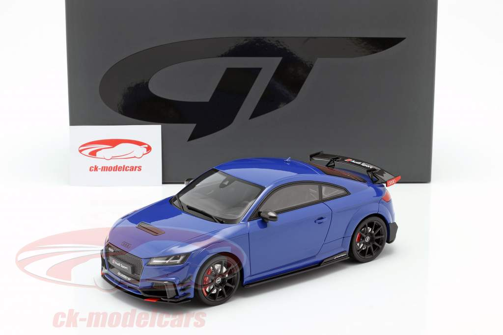 Audi TT RS Performance Parts 2018 blå metallisk 1:18 GT-Spirit
