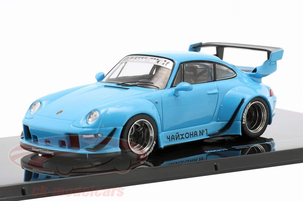 Porsche 911 (993) RWB Rauh-Welt blauw 1:43 Ixo