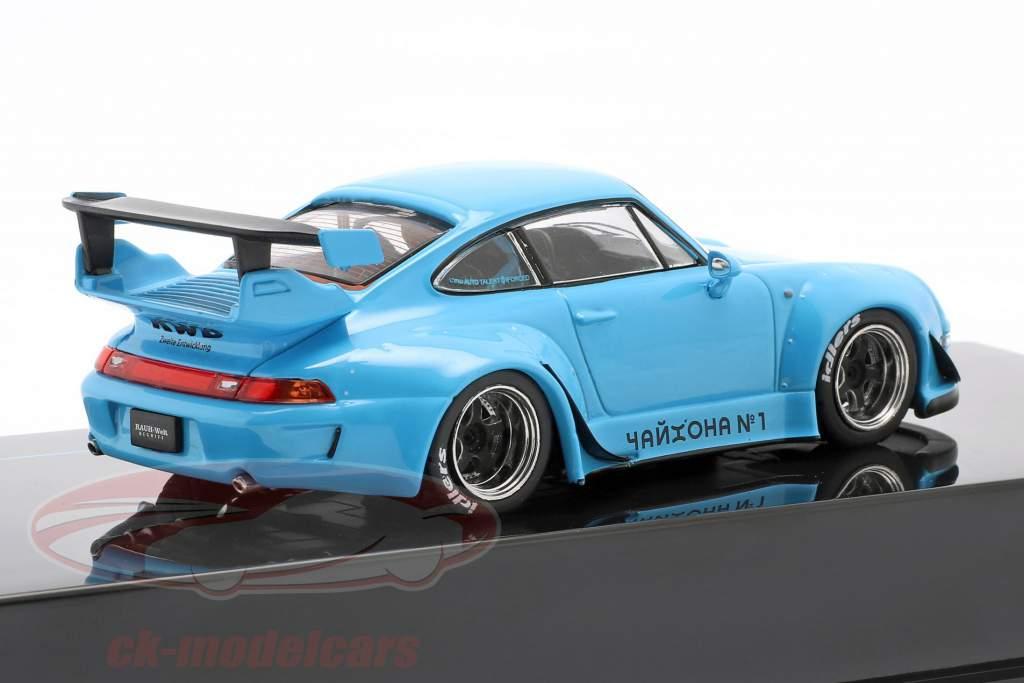 Porsche 911 (993) RWB Rauh-Welt bleu 1:43 Ixo