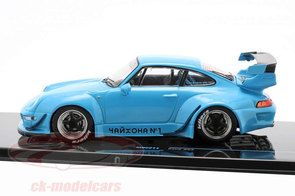Porsche 911 (993) RWB Rauh-Welt blå 1:43 Ixo
