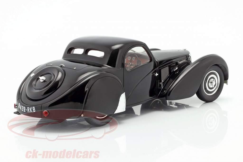 Bugatti T57SC Atalante Bouwjaar 1937 zwart 1:18 Matrix