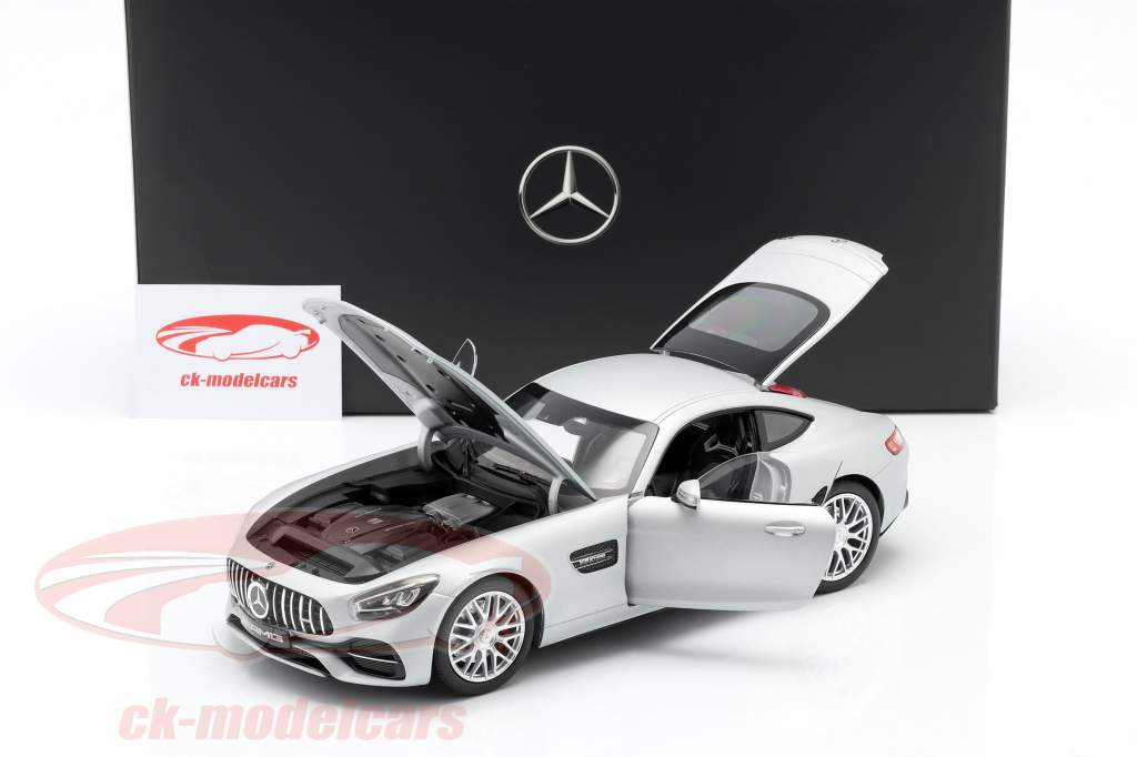Mercedes-Benz AMG GT S Coupe (C190) designo irídio prata magno 1:18 Norev