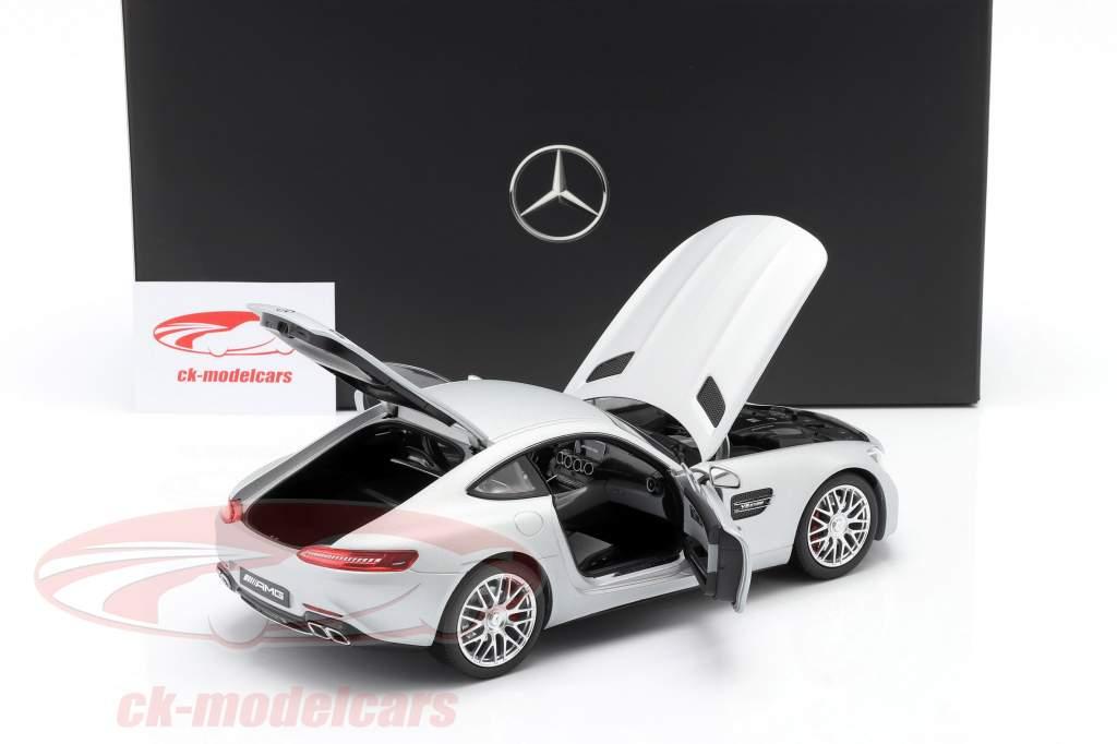 Mercedes-Benz AMG GT S Coupe (C190) designo iridiumsilber magno 1:18 Norev