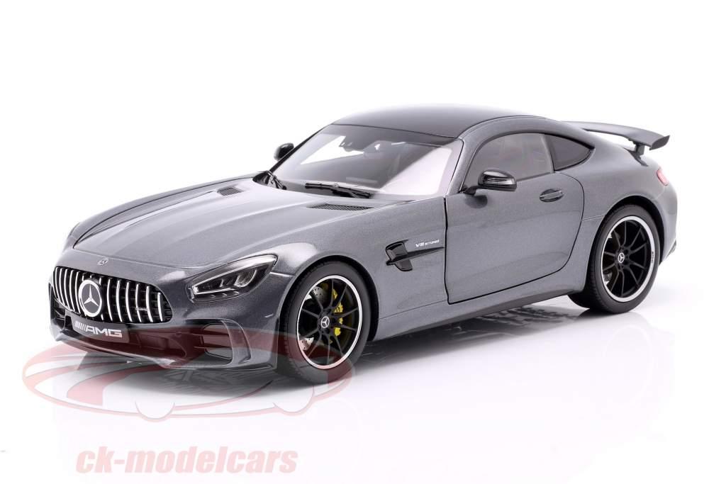 Mercedes-Benz AMG GT R Coupé (C190) gris sélénite 1:18 Norev