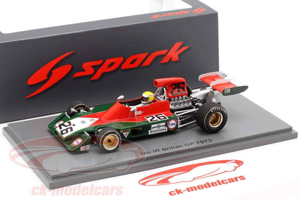 Graham McRae Iso-Marlboro IR1 #26 britannico GP formula 1 1973 1:43 Spark