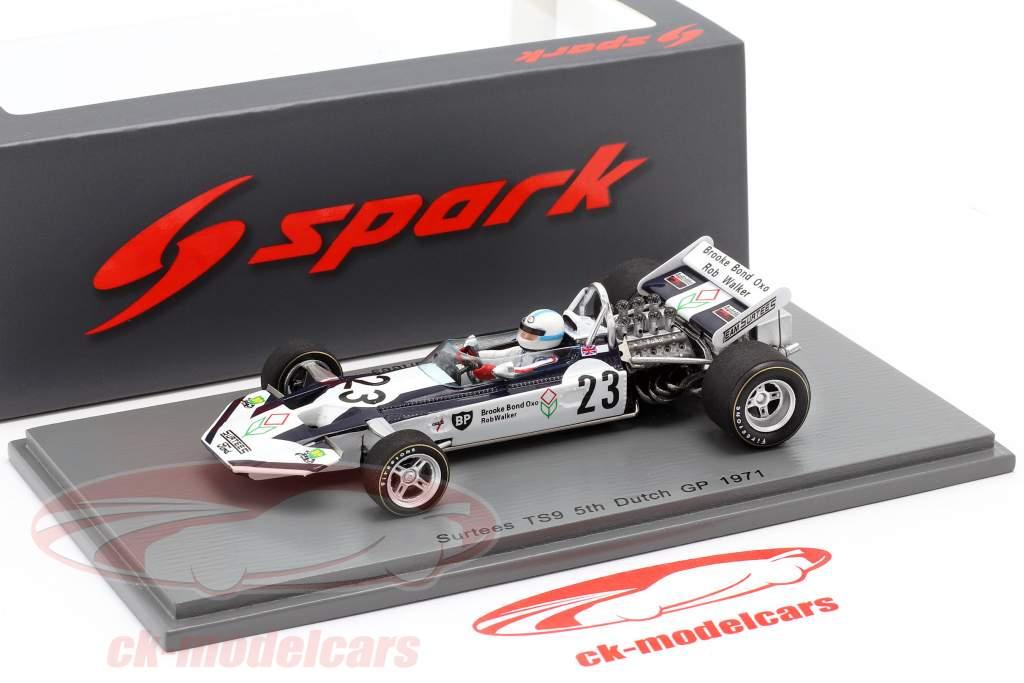 John Surtees Surtees TS9 #23 5th Niederlande GP Formel 1 1971 1:43 Spark