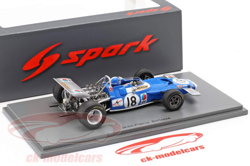 Jean-Pierre Beltoise Matra MS80 #18 4th Kanada GP Formel 1 1969 1:43 Spark