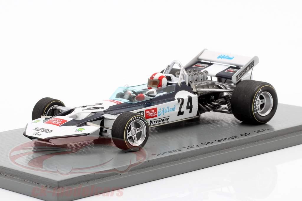 Rolf Stommelen Surtees TS9 #24 5. britisk GP formel 1 1971 1:43 Spark