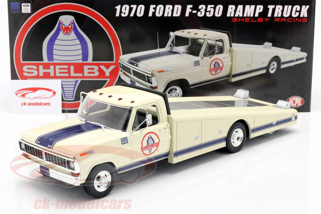 Ford F350 Ramp Truck Shelby Racing Baujahr 1970 weiß 1:18 GMP