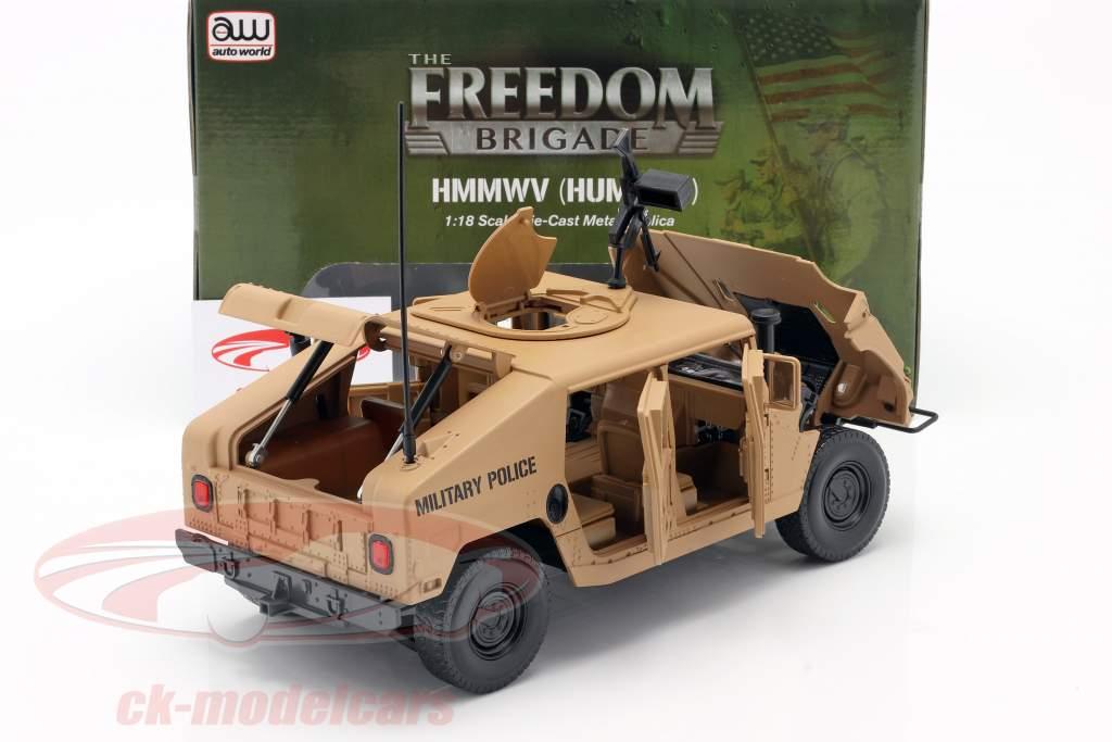 Humvee R-2 Militær køretøj ørken tan 1:18 Autoworld