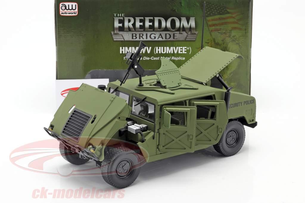 Humvee R-2 Militar Veículo verde azeitona 1:18 Autoworld