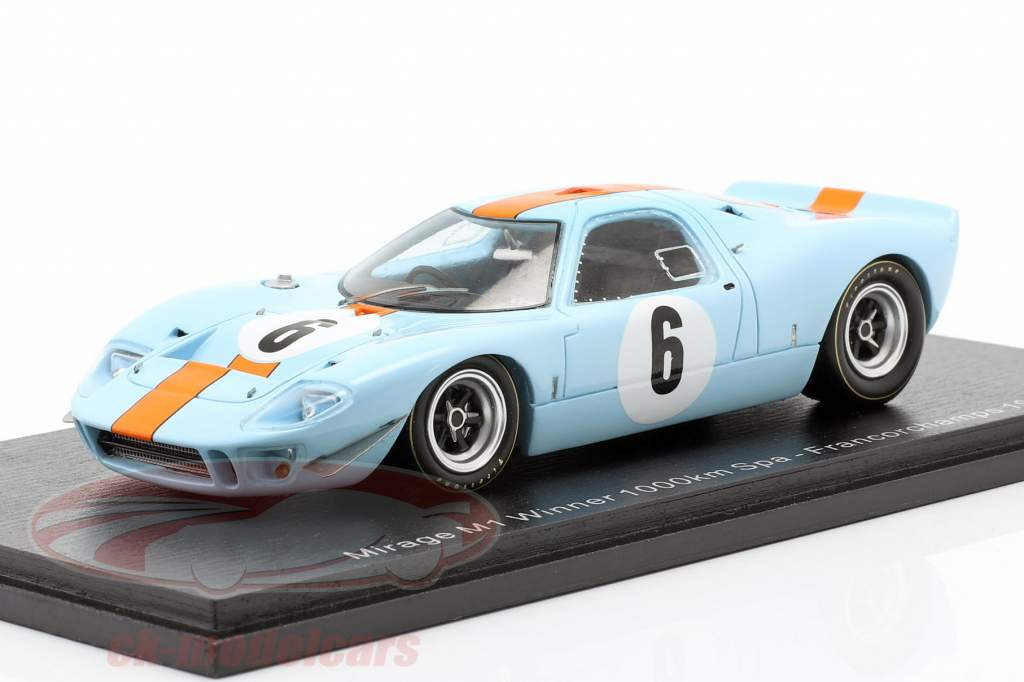 Mirage M1 #6 Winnaar 1000km Spa 1967 Ickx, Thompson 1:43 Spark