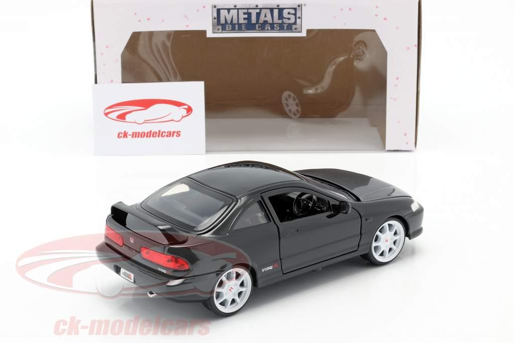 Honda Integra tipo R Anno di costruzione 1995 nero 1:24 Jada Toys