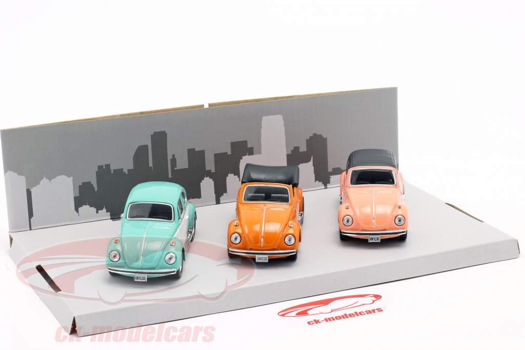 3-Car Set Volkswagen VW Escarabajo B130 1:43 Cararama