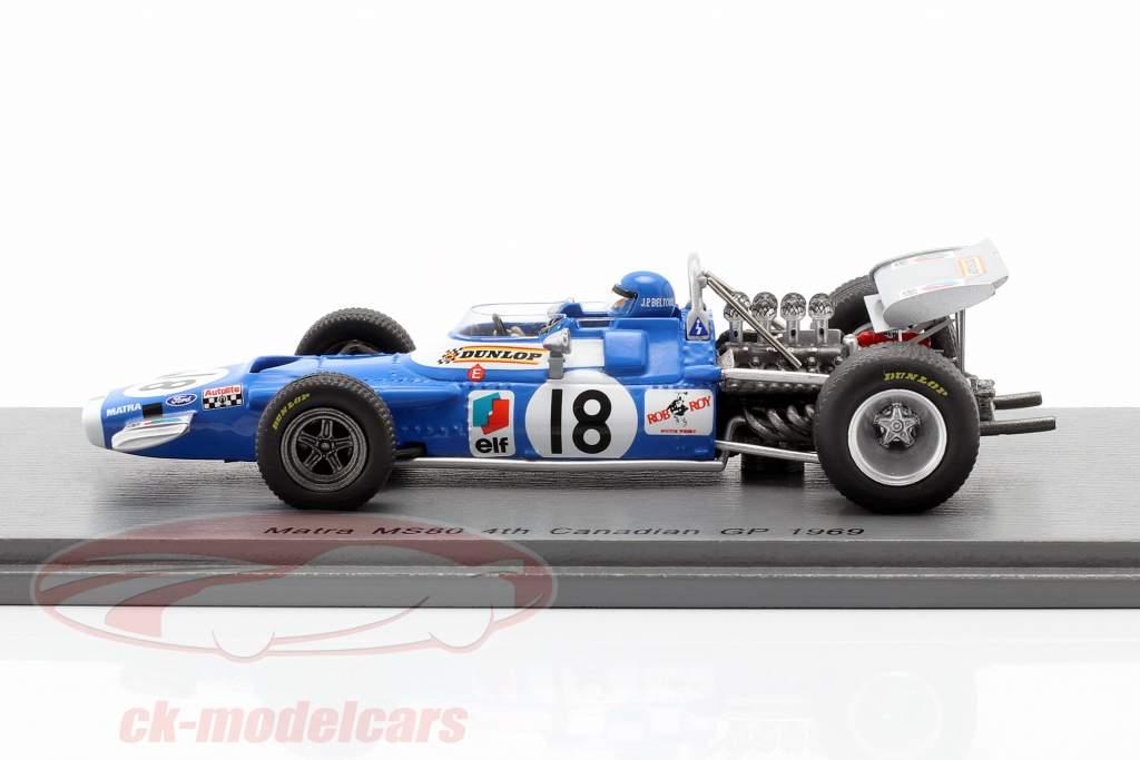 Jean-Pierre Beltoise Matra MS80 #18 4to Canadiense GP Formula 1 1969 1:43 Spark