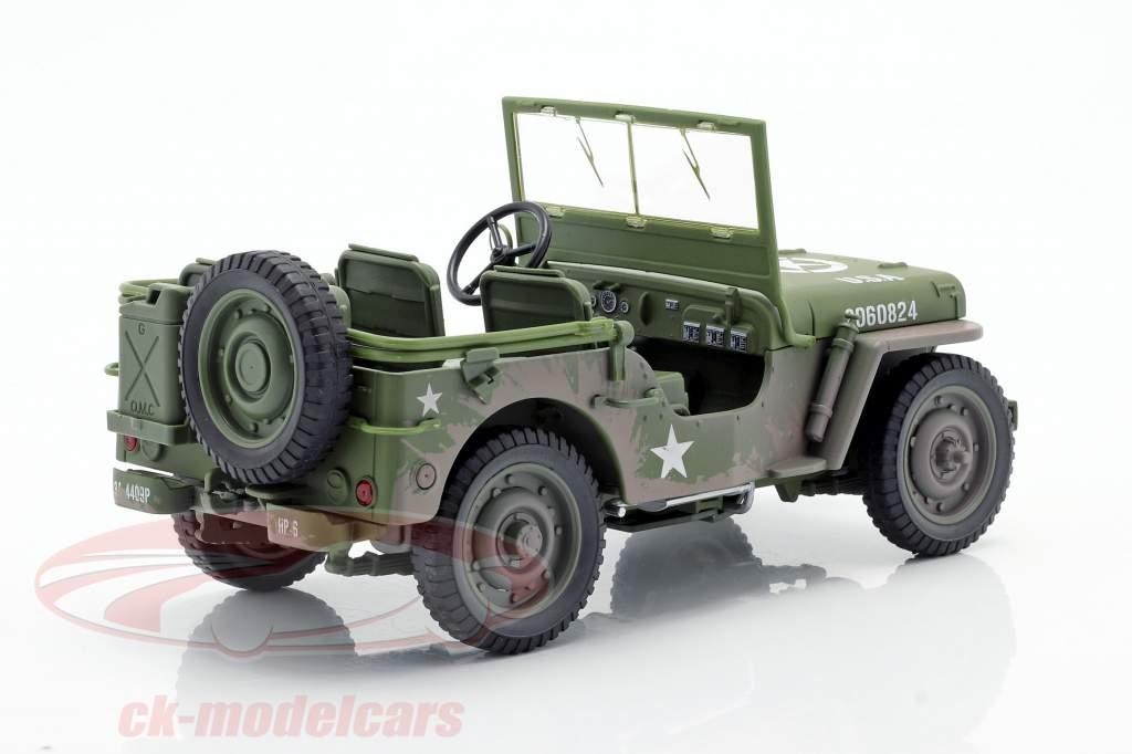 Willys MB Jeep 4x4 US Army Anno di costruzione 1941 verde oliva Dirty Version 1:18 Autoworld