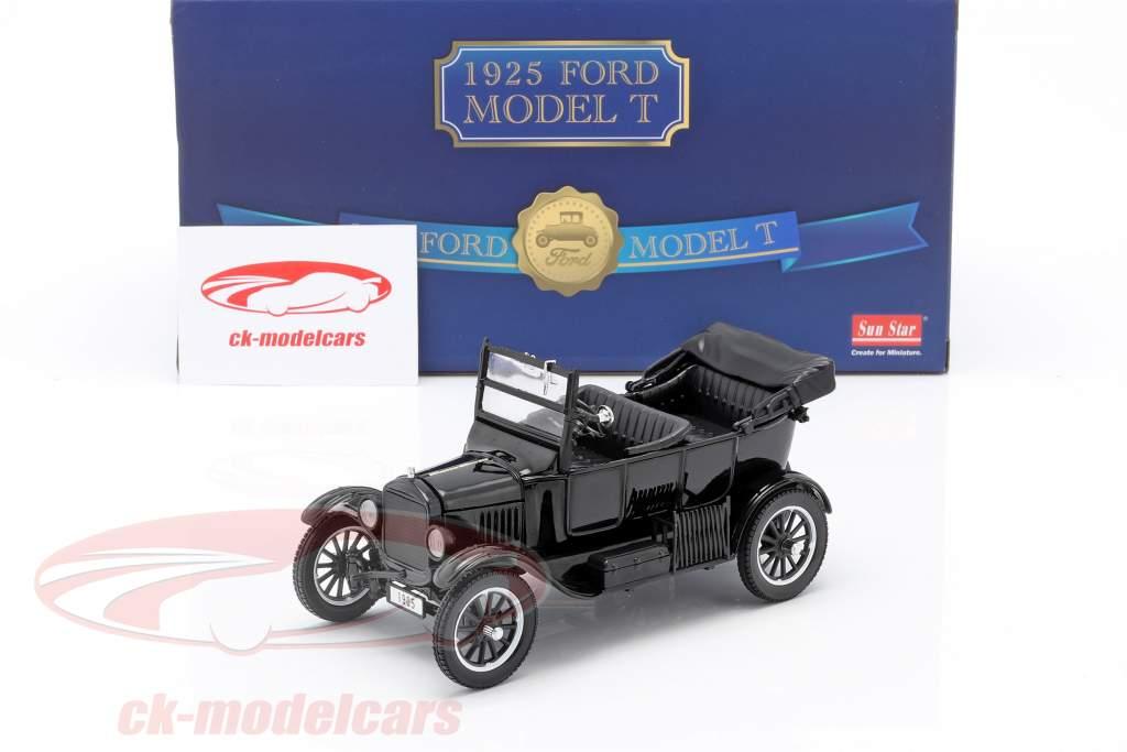 Ford Model T Anno di costruzione 1925 con 2 figurine Laurel & Hardy 1:24 SunStar