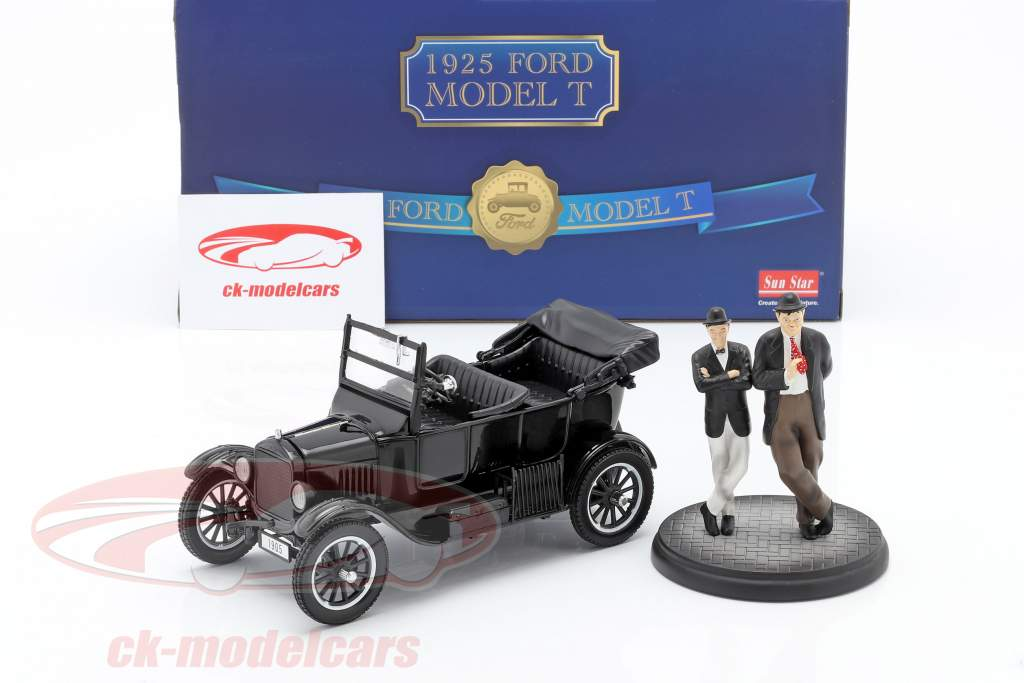 Ford Model T Año de construcción 1925 con 2 estatuillas Laurel & Hardy 1:24 SunStar