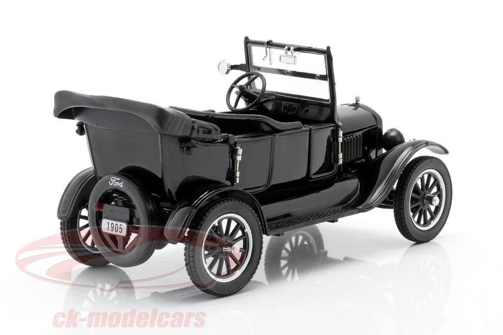 Ford Model T Bouwjaar 1925 met 2 beeldjes Laurel & Hardy 1:24 SunStar
