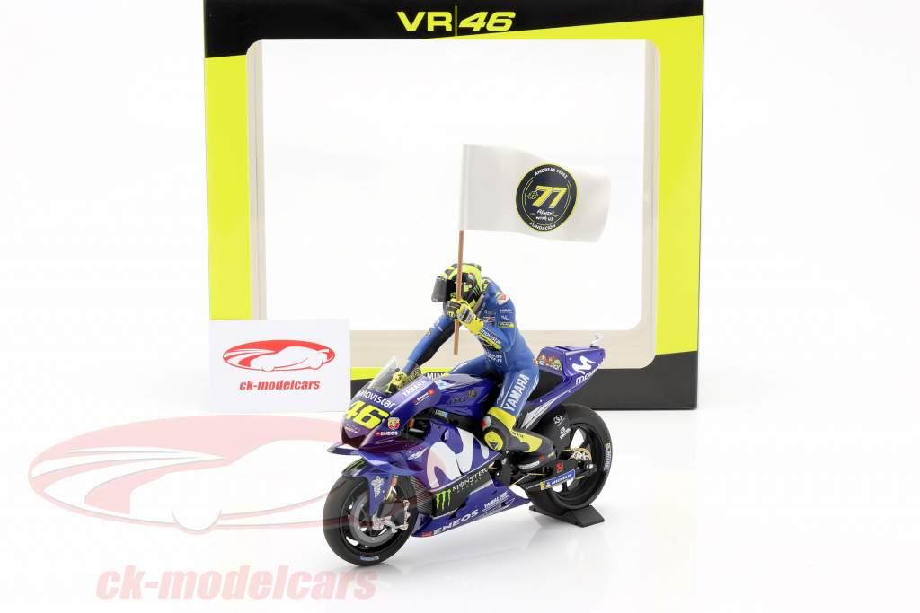 Valentino Rossi Yamaha YZR-M1 #46 3ro MotoGP Cataluña 2018 1:12 MInichamps