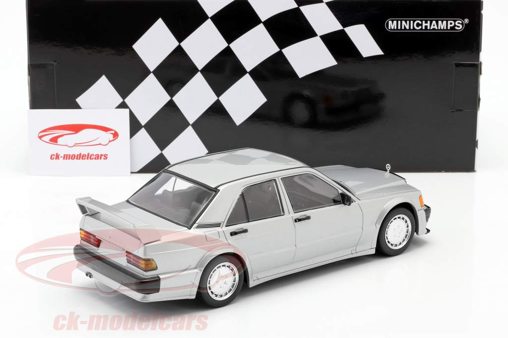 Mercedes-Benz 190E 2.5-16V Evo 1 1989 silver metallic 1:18 Minichamps