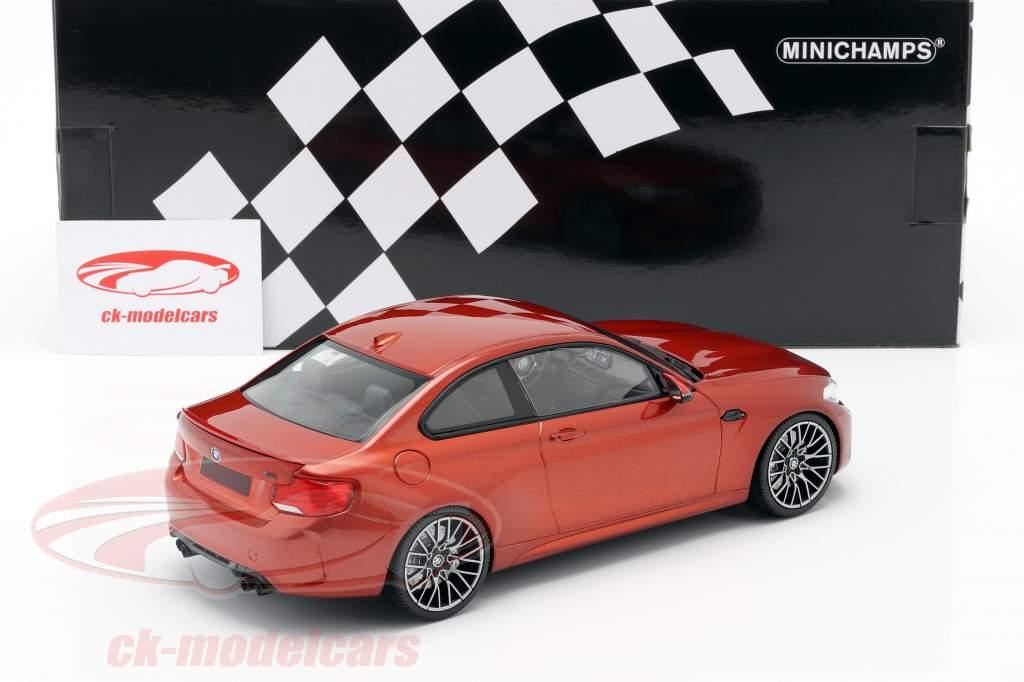 BMW M2 Competition year 2019 orange metallic 1:18 Minichamps