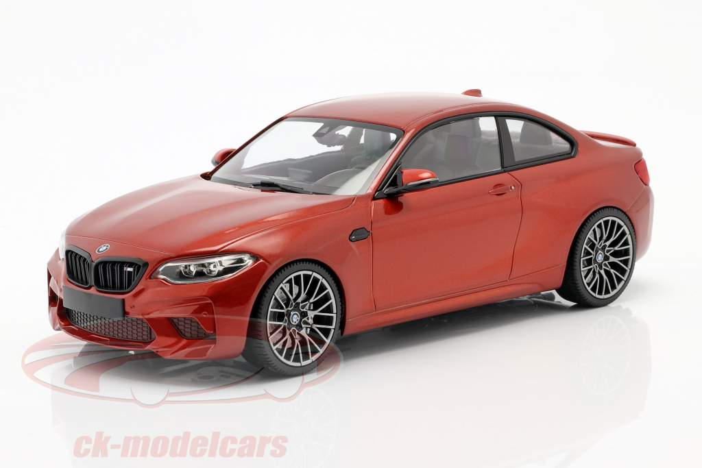 BMW M2 Competition Baujahr 2019 orange metallic 1:18 Minichamps