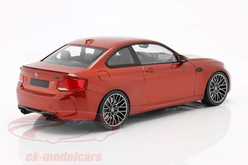 BMW M2 Competition Ano de construção 2019 laranja metálico 1:18 Minichamps