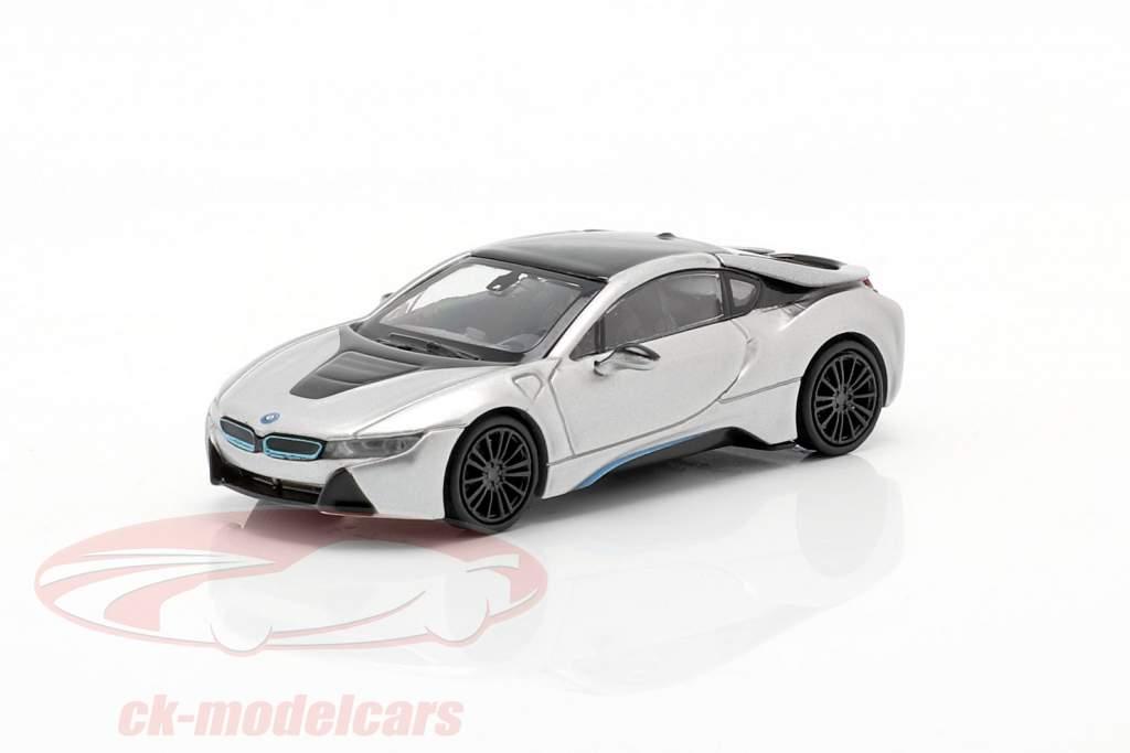 BMW i8 Coupe (I12) Anno di costruzione 2015 argento 1:87 Minichamps