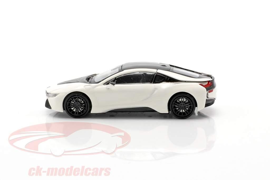 BMW i8 Coupe (I12) Bouwjaar 2015 wit metallic 1:87 Minichamps